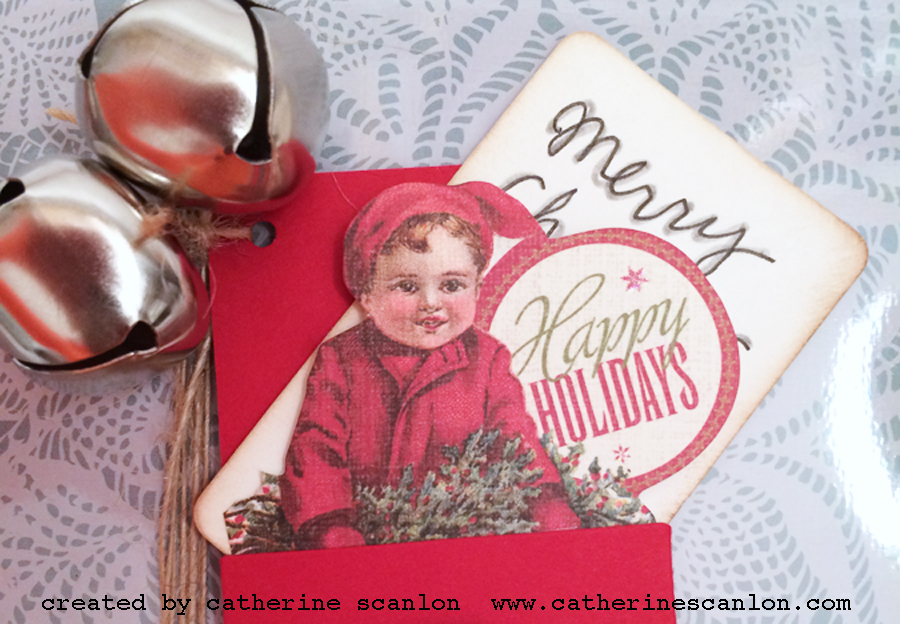 Vintage Style Holiday Tags by Catherine Scanlon for Sizzix